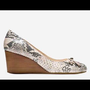 Cole Haan Elsie Lace styled wedge Roccia Snake